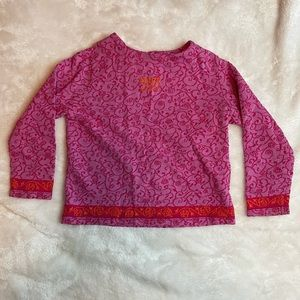 KENZO Size 3 Long Sleeve Floral Pink Orang…